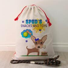 Personalizado Chihuahua Cachorro Perro Mascota tratar Bolsa Juguete Regalo de Almacenamiento Ordenado Saco