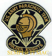 AUTHENTIC US ARMY GOLDEN KNIGHTS PARACHUTE TEAM PATCH JUMP AIRSHOW PIN UP WOW