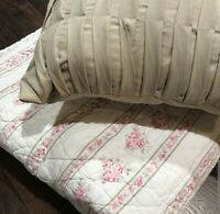 Shabby Chic Quilted Bedspread Set  - Beautiful!!!