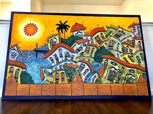 "Oil on canvas painting 74"" X 47"": ""Dancing Havana"""