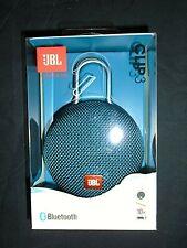 "JBL Clip 3  Blue (JBLCLIP3BLUAM) Portable Speaker System ""NEW"""