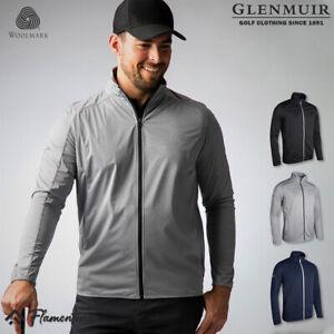 Glenmuir Mens Jacket Elrick Performance Golf Luxury Storm Bloc Lightweight Zip