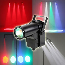 9W Colorful RGB LED Pin Spot Stage Light Disco DJ Bar Show Beam Effect Lighting