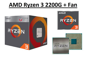 AMD Ryzen 3 2200G Quad Core Processor 3.5 - 3.7 GHz, Socket AM4, 65W Sealed Box