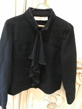 Valentino Skirt Suit Gorgeous Beaded in Black Sz 8