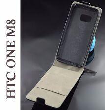 Funda piel para HTC ONE M8 carcasa protector cierre imán negra