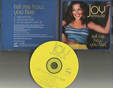 JOY ENRIQUEZ Tell me how you feel EDIT INSTRUMENTAL PROMO CD single Mariah Carey