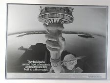 The Wall Street Journal Statue Of Liberty Original Vintage Poster / Insert