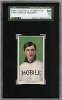 Rare 1909-11 T206 Gordon Hickman Old Mill Southern League Mobile SGC 60 / 5 EX