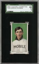 Rare 1909-11 T206 Gordon Hickman Old Mill Southern League Mobile SGC 60 / 5 EX