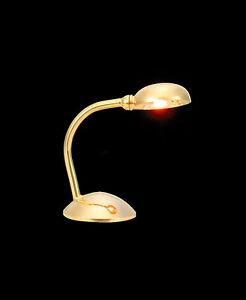 Heidi Ott Dollhouse Miniature  Light Brass Table Lamp  #YL1080 Special Stock