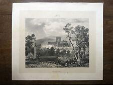 Lithographie HARDING Volvic VOYAGE PITTORESQUE Taylor AUVERGNE 1829 Puy-de-Dôme