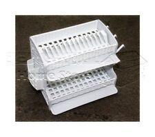 Plastic Dish Drainer Two Drip Tray 2 Layer Rack Utensil Cutlery Draining White