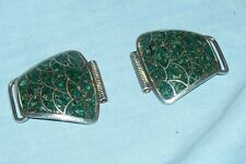 Green Turquoise Watch Band Tips Halves Ends Men's Cuff for Expandable; Stretch
