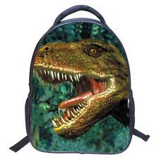 Cool Kids 3D Cartoon Print Dinosaur Drawing Children School Backpack Book  Bag fo 9f8fca631fe1f