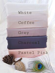 Luxury Soft & Cool  100%Organic Bamboo Bed sheet 400TC  45cm Deep Wall size Q&K