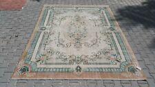 Oushak 8x10 Turkish Rug,turkis Kilim,anatolian rug,Orange,Vintage Bohemian