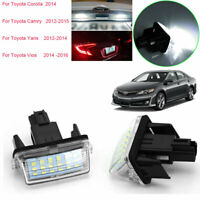 For Toyota Corolla Camry Yaris Vios Auris Vehicles Number License Plate Lightsx2