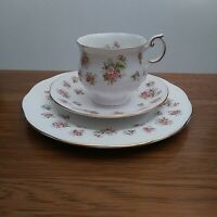"Queens Countryside Series ""Apple Blossom"" Teacup, Saucer & dessert Plate"
