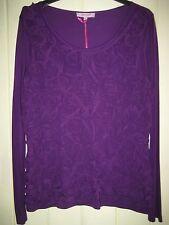 M&S Per Una Purple Swirly Top Size 12 BNWT