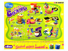 Re-Ment Disney Stitch Cooking - 8 Complete Set OPEN BOXES RARE!!! Miniatures