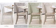 Florence High Back Chair. Sturdy Wooden Kitchen Chair in Sage Green Colour and