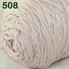 Sale New 1 Cone x 400g Soft Baby Cotton Chunky Super Bulky Hand Knitting Yarn 08