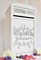 Custom Wedding Card Post Box - Personalised- Fully Assembled Mail Box