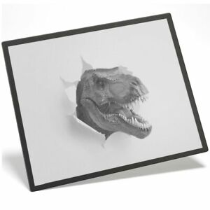 Placemat Mousemat 8x10 BW - T-Rex Dinosaur Dino Kids Teen  #40833