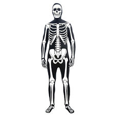 Skeleton Suit Zentai Second Skin Full Body Morph Halloween Costume Adult