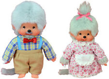 Monchhichi Oma und Opa Puppen Set Großvater Großmutter Sekiguchi 20 cm NEU