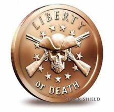 Silver Shield - Liberty or Death - 1 oz 999 Copper - BU Round - USA Bullion Coin