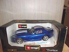 Burago 1996 Dodge Viper Diecast Car 1:18 3030 In Box