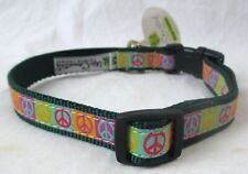 New listing New With Tag Up Country Dog Collar Size Medium Peace Sign Pattern