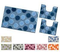 Tappeto bagno PARURE set 3 pezzi antiscivolo shaggy moderno girowater mod.IOS