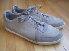 Lacoste Mens 10.5 Beige Brown Leather Lace Up Athletic Shoes Sneakers 762470