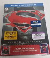 Batman v Superman Dawn of Justice Batman Exclusive Blu-Ray DVD Steelbook NEW