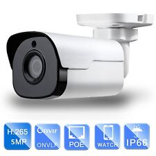 PoE/12VDC Starlight IR Bullet Network Camera 5MP 4mm lens WDR Onvif Audio IP67