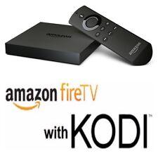 AMAZON FIRE TV BOX with Alexa Voice Remote 2nd Gen Quad Core Tv Addons 17.1  NEW