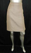 BANANA REPUBLIC  Beige/Black Print Back Zipper Knee Length Straight Skirt sz 12