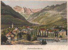 INTERLAKEN Ansicht des Ortes Kupferstich 1820 Original!