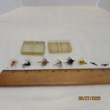 New listing Vintage Fishing Flies - 6 total in small plastic box