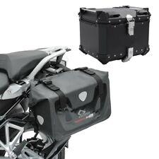 Satteltaschen Set für Honda Africa Twin CRF 1000 L + Alu Topcase RX80