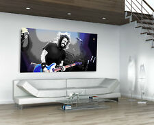 """Dave Grohl - Foo Fighters - Huge Framed Canvas Print Wall Art - 72"""" x 36"""""""