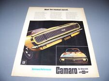 VINTAGE..1967 CHEVROLET CAMARO SS 350..1-PAGE COLOR ORIGINAL SALES AD..(573K)