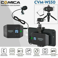 Comica CVM-WS50(C) UHF 6-Channel Wireless Smartphone Lavalier Microphone System