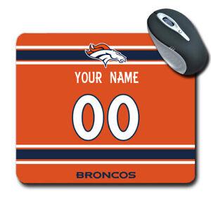 NFL Denver Broncos Personalized Name/Number Mouse Pad 151330