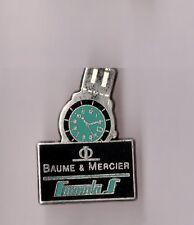 pin's montre / Baume & Mercier - Formula S (argenté signé Arthus Bertrand)