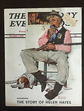 "1939 Saturday Evening Post COVER ONLY Norman Rockwell ""Sheriff and Prisoner"""