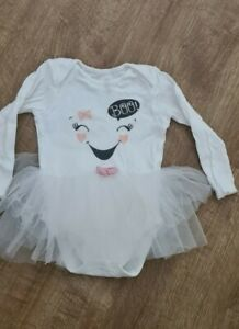 Baby Girls Halloween Outfit Ghost Boo 12-18 Months George
